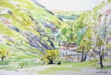 Sketches of the Stepping Stones 1, Dovedale (NC283)