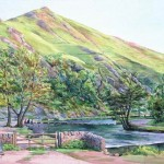 Summer Evening by the Stepping Stones, Dovedale (NC240)
