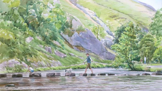 Crossing the Stepping Stones, Dovedale NC287