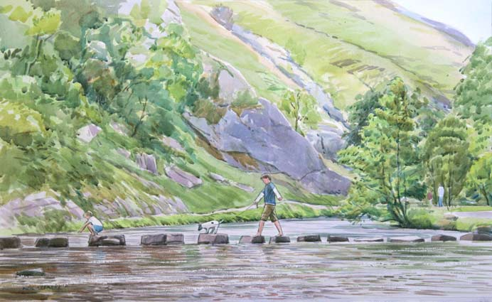 lc287dovedalesteppingstonesacrylic