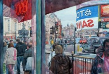Piccadilly Circus Reflected, London (NC182)