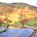 November Sunlight over Stepping Stones, Dovedale (NC153)