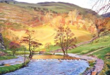 November Sunlight over the Stepping Stones, Dovedale (NC153)