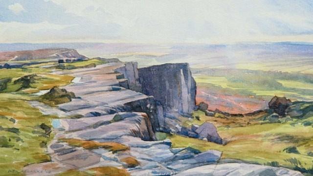 Winter Sunlight, Curbar Edge (NC239)