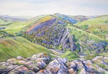 Dovedale from the Summit of Thorpe Cloud (LC296)