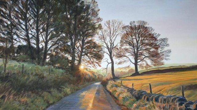 October Sunrise, Lode Lane (NC 370)