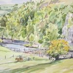 Sketch of the stepping stones 2, Dovedale (NC 284)