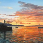 Sunset over Ardrossan Harbour (NC 381)